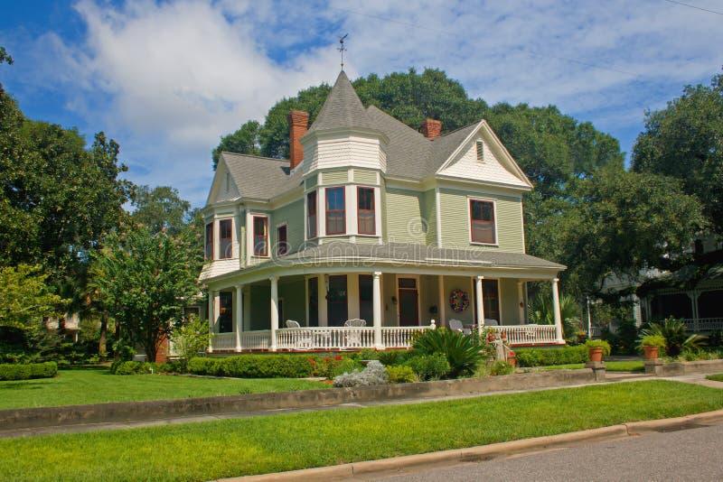 Coastal victorian home 3. Colorful, coastal Florida victorian style home stock photo
