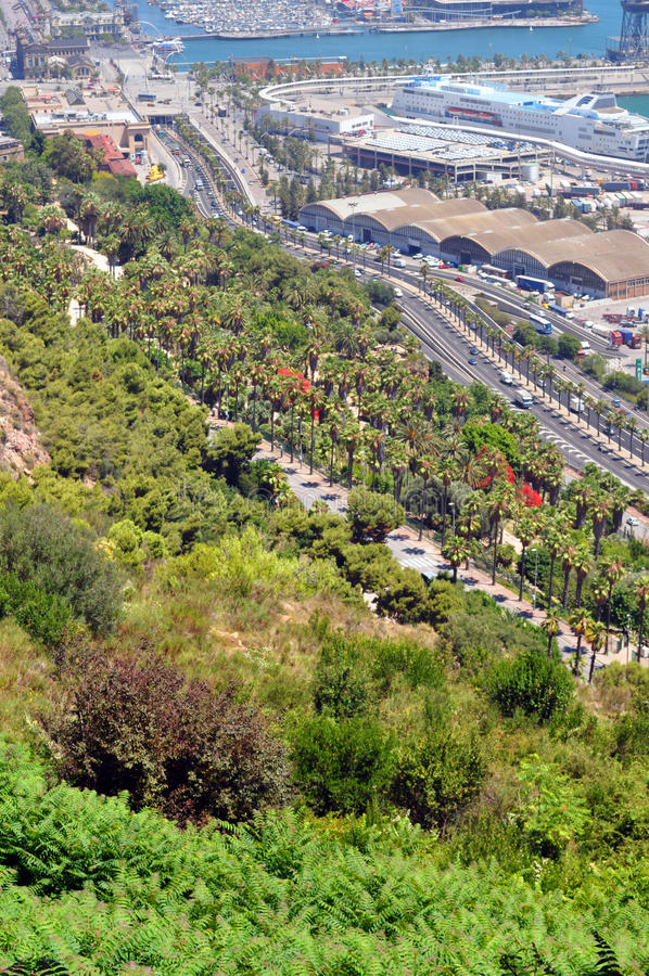 Download Coastal View of Barcelona stock image. Image of landscape - 25893549