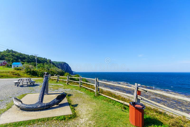 Coastal view in La Martre, Gaspe Peninsula. Quebec, Canada stock photo