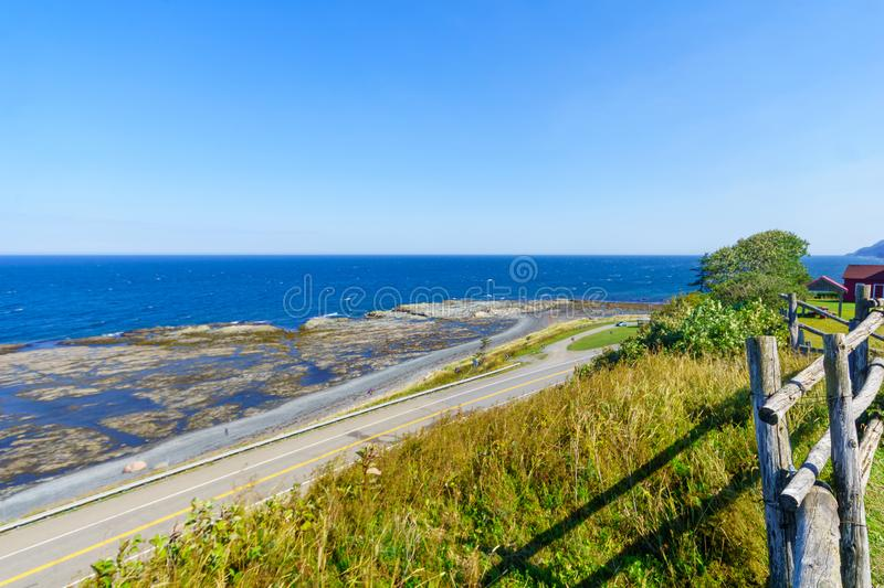 Coastal view in La Martre, Gaspe Peninsula. Quebec, Canada stock photography
