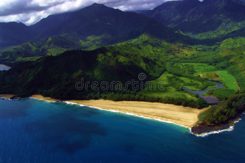 Download A Coastal View From Mid-air Stock Photo - Image: 184456