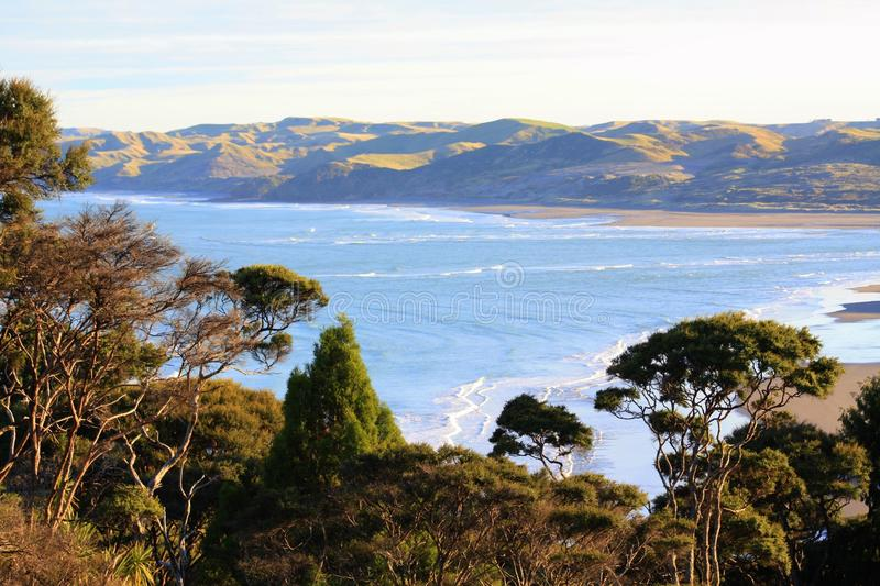 Coastal view, New Zealand royalty free stock photography