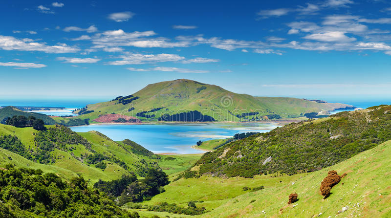 Coastal view, New Zealand stock images