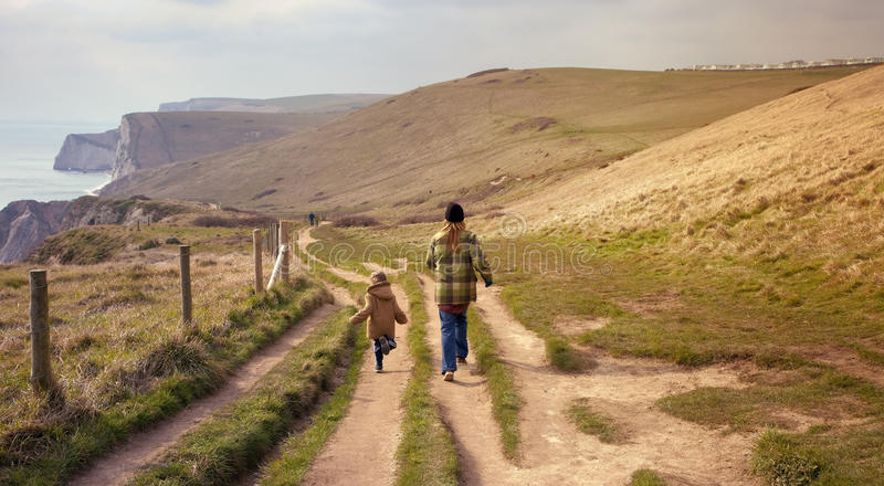 Download Coastal walk, Dorset stock image. Image of united, mother - 35282161