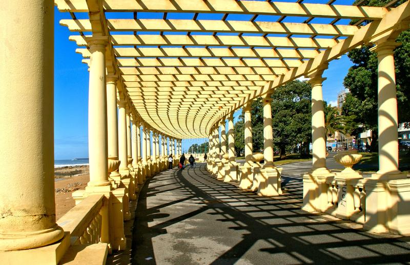 Coastal way with Pergola at Foz do Douro. Oporto, Portugal stock photography