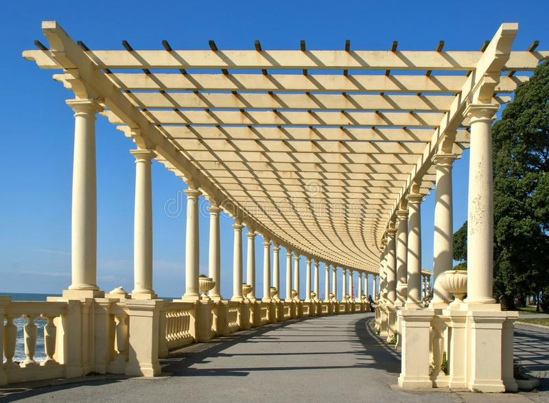 Coastal way with Pergola at Foz do Douro. Oporto, Portugal stock image