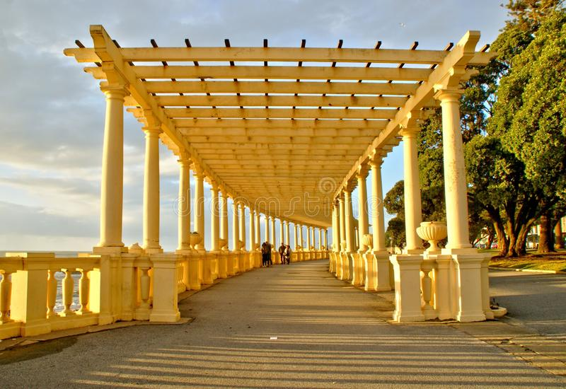 Coastal way with Pergola at Foz do Douro. Oporto, Portugal royalty free stock photos