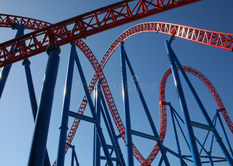 coaster prate roller vienna royaltyfri foto