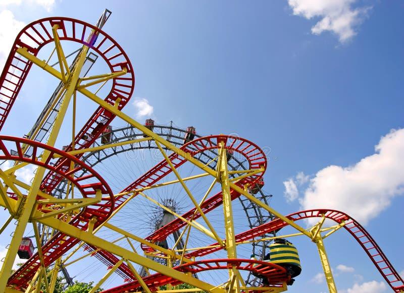 coaster prater roller vie 免版税图库摄影