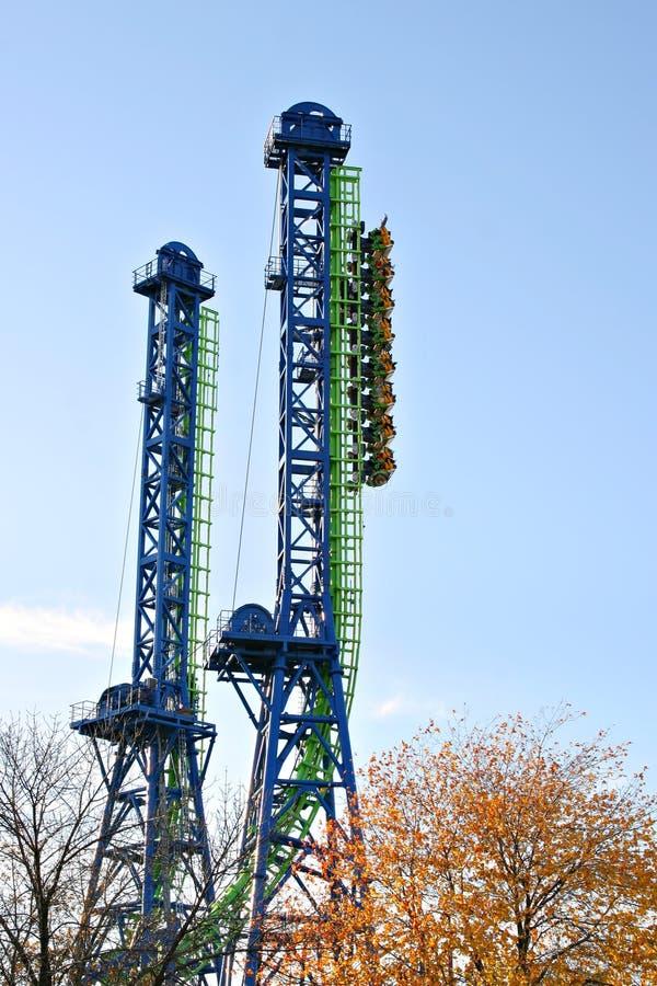 coaster roller straigth und up 免版税库存照片