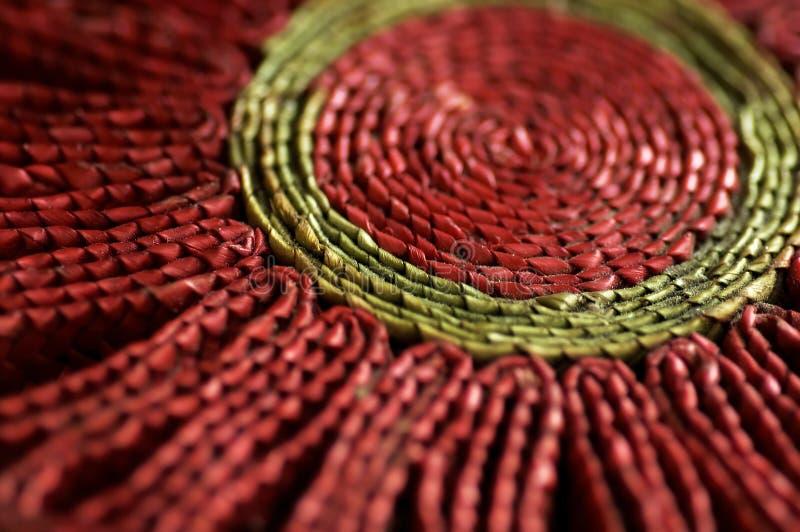 Coaster vermelho fotografia de stock