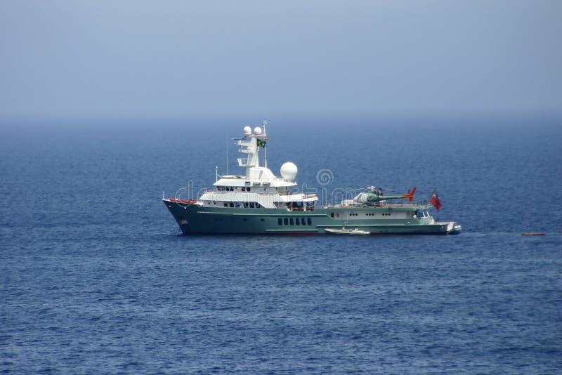 Coastguard. Ship near majorca coast stock photo