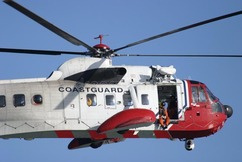 Coastguard Rescue 2. Coastguard Rescue Helicopter in flight royalty free stock image