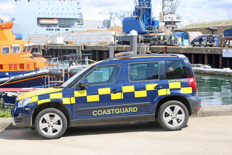 Coastguardskåpbil arkivbild