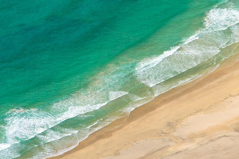 Coastline from above royalty free stock image