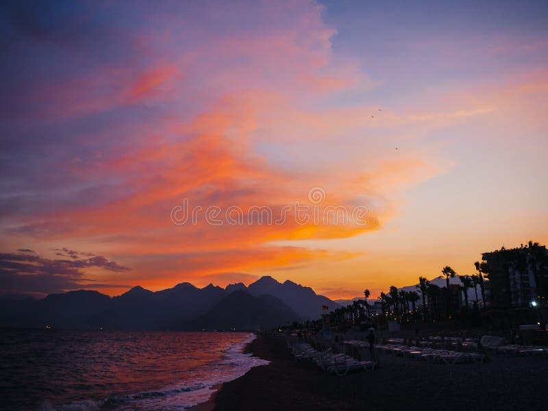 The coastline of Antalya. Konyaaltı royalty free stock photo