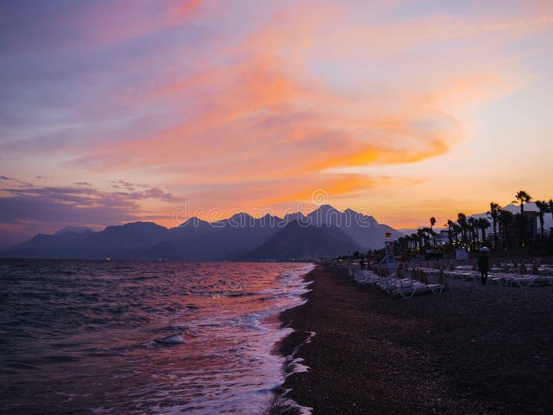 The coastline of Antalya. Konyaaltı royalty free stock images