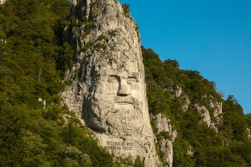 The Statue of Dacian king Decebalus royalty free stock photo