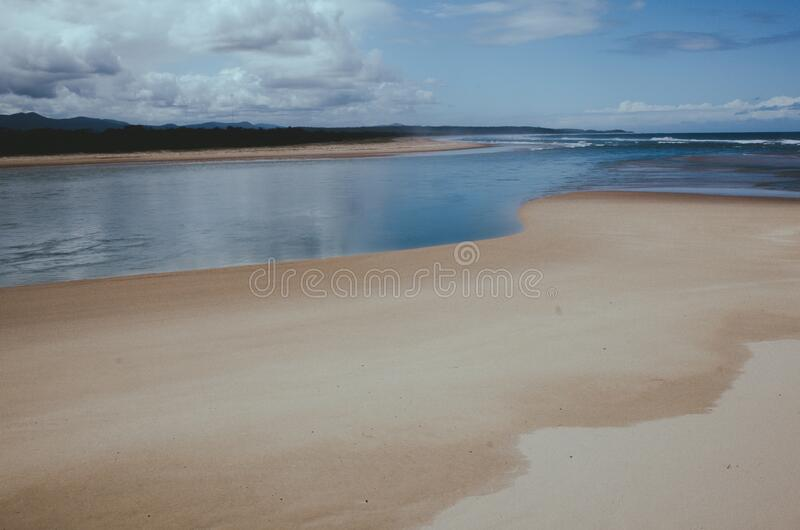 Coastline on the beach stock image