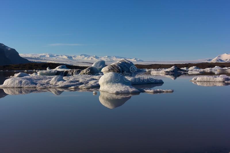 Melting ice in Iceland. stock photos