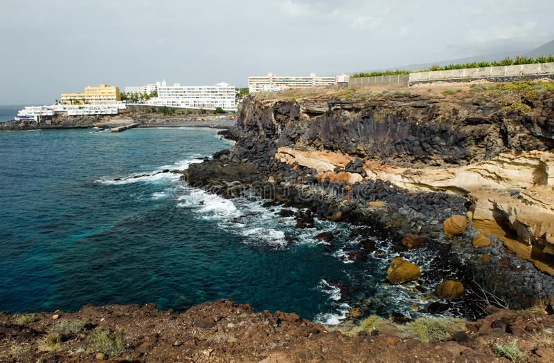 Coastline in Callao Salvaje, Tenerife, Spain royalty free stock images