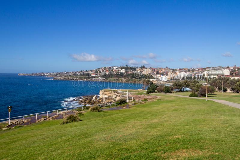 Coastline and coastal path. Coogee, New South Wales, NSW, Australai stock photos