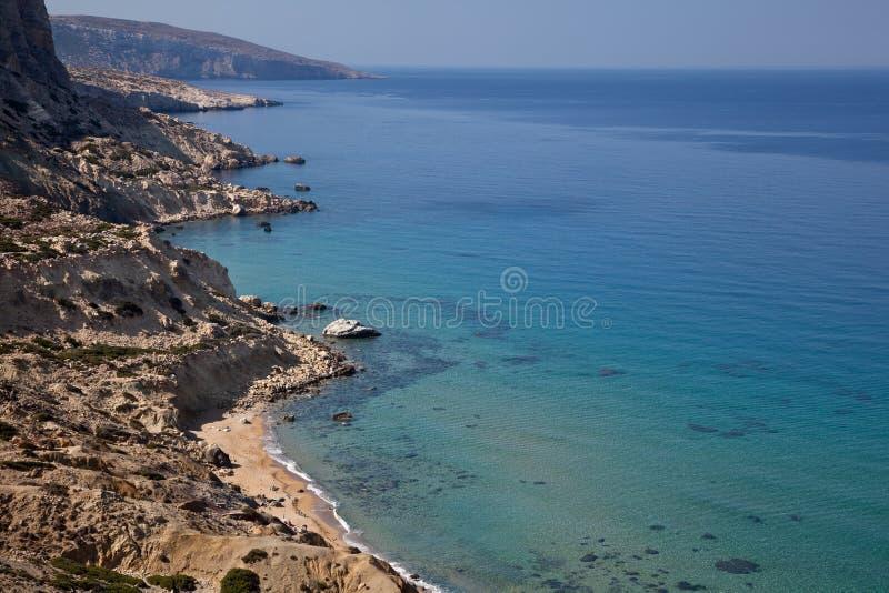 Coastline of Crete, Greece stock images
