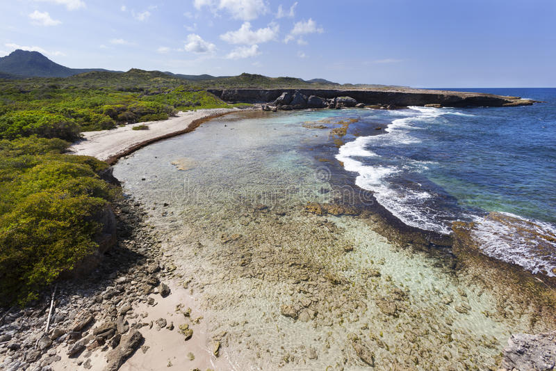 Coastline of Curacao stock photography