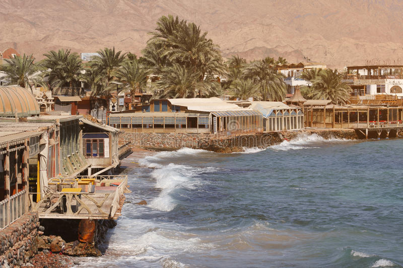 Dahab down town old buildings stock images