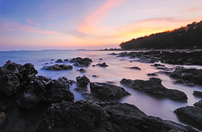The coastline at dawn
