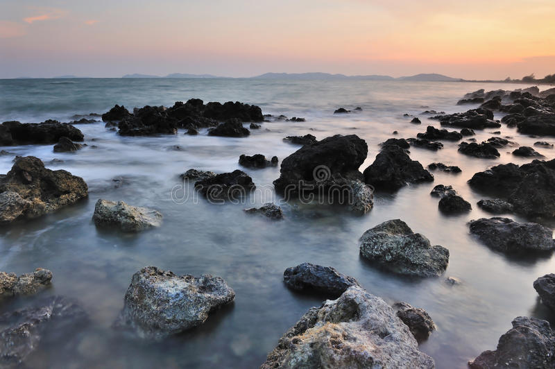 Download The coastline at dawn stock photo. Image of scenic, background - 24543598