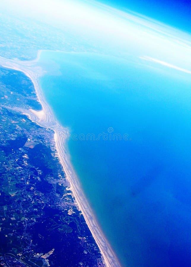 Coastline of France royalty free stock photo