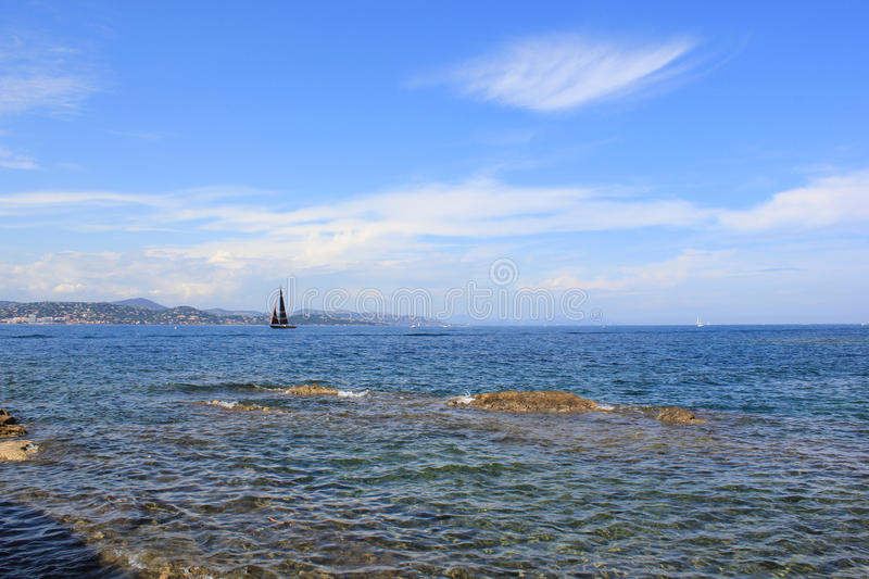 Coastline French Riviera Royalty Free Stock Photography