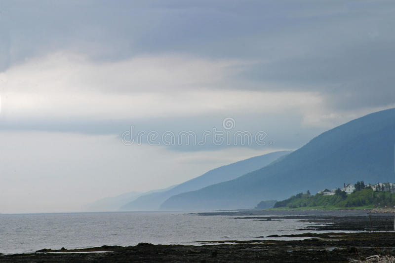 The coastline in Gaspe, Quebec. Canada stock photography