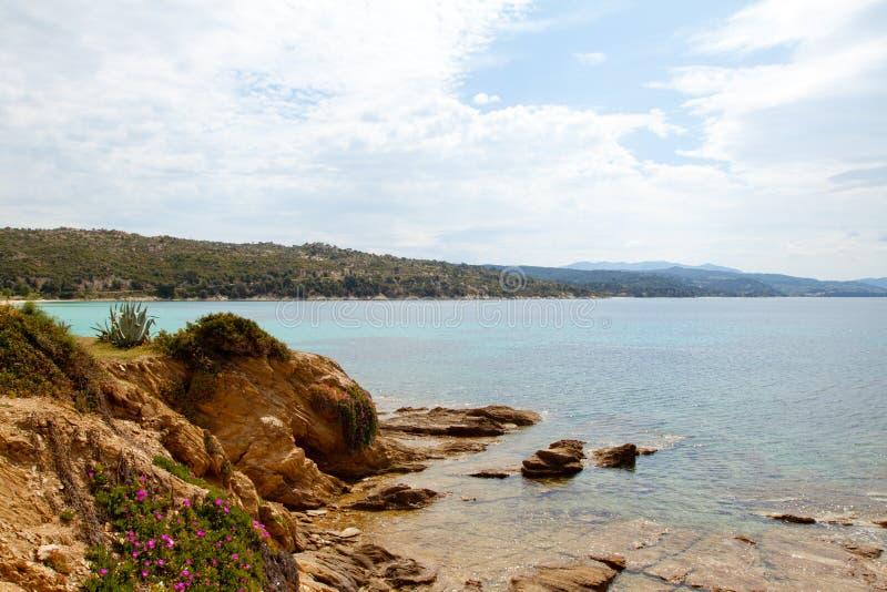Download Coastline in Greece stock photo. Image of clear, coast - 21948596