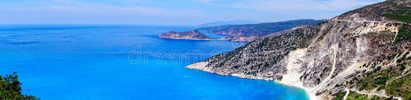 Coastline of Greek Island of Cephalonia. stock photography