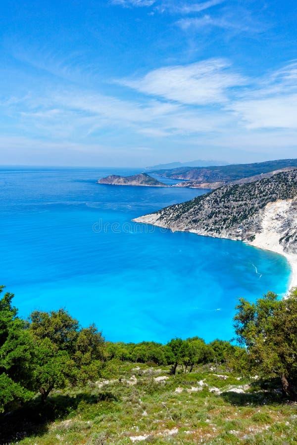 Coastline of Greek Island of Cephalonia. stock photos