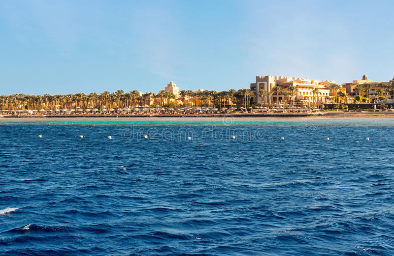 Coastline of Hurghada on a sunny day royalty free stock images