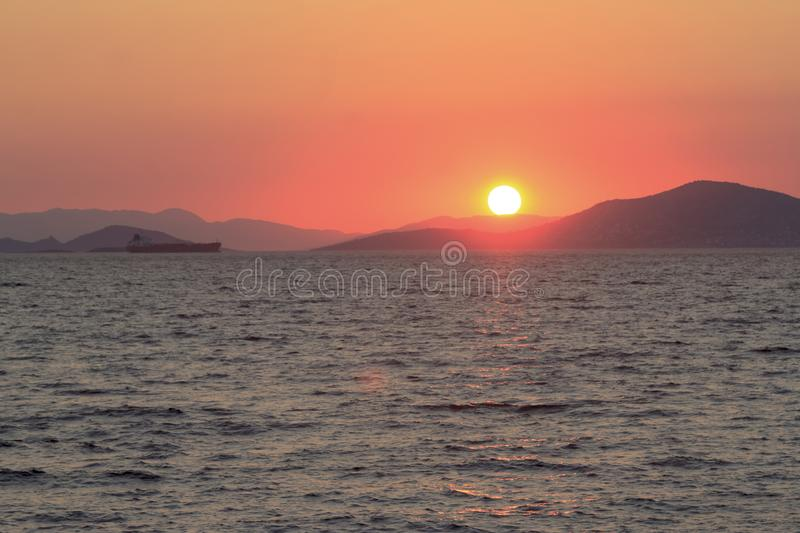 Izmir at Sunset /Turkey. Coastline of Izmir at Sunset /Turkey royalty free stock photography