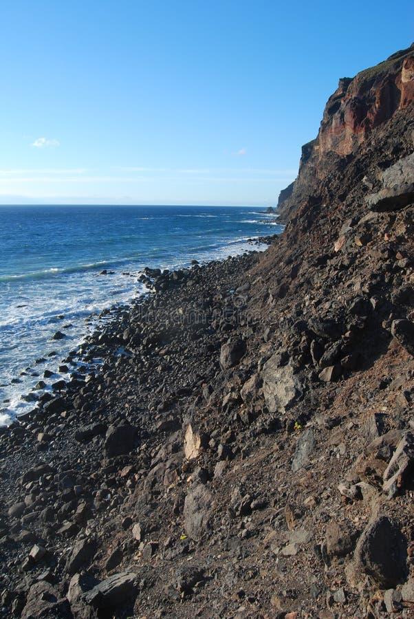 Coastline of La Gomera. Canary islands royalty free stock photography