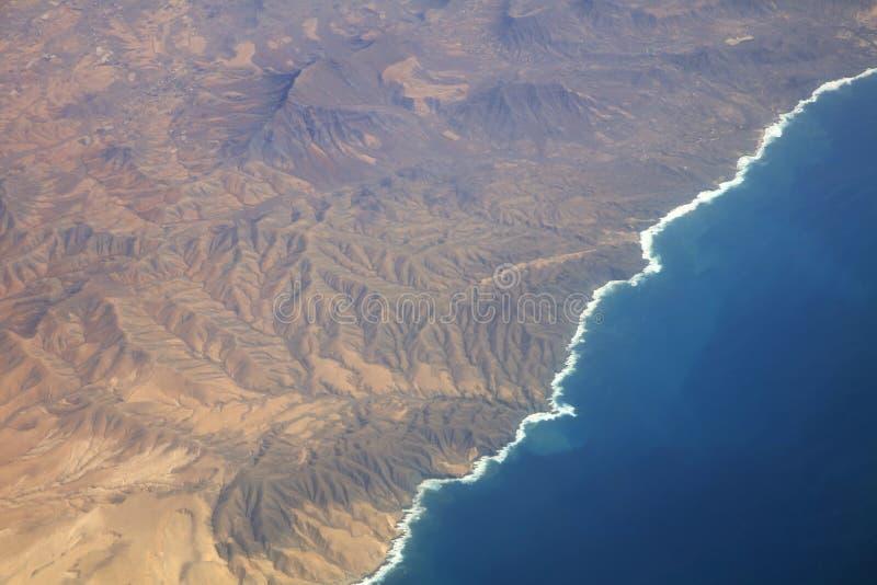 Coastline of La Gomera. Canary Islands. Spain. Coastline from above in La Gomera. Canary Islands. Spain. Europe royalty free stock image