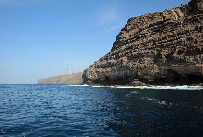 Coastline of La Gomera. Canary Islands. Spain. Europe royalty free stock photos