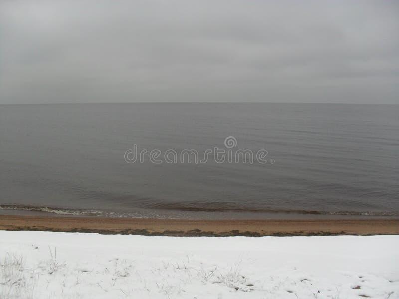 Lake Peipsi. October 1. stock image
