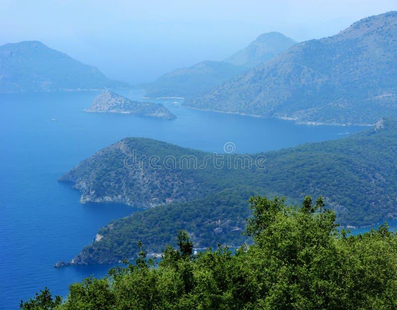 Coastline Landscape Of Mediterranean Sea Turkey Stock Photos
