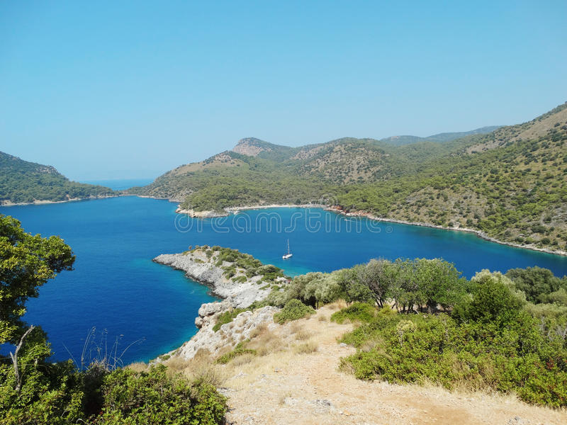 Coastline landscape of mediterranean sea turkey