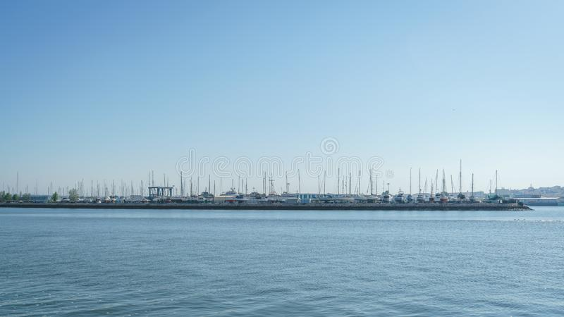 Coastline Landscapes of Portimao, Portugal.  stock photo