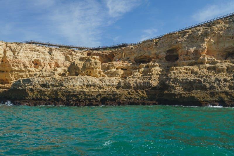 Coastline Landscapes of Portimao, Portugal.  stock images
