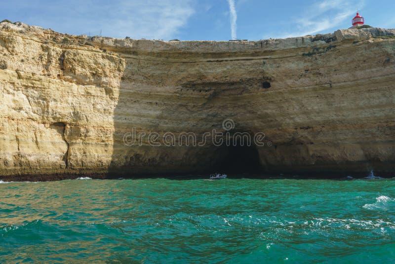 Coastline Landscapes of Portimao, Portugal.  royalty free stock images