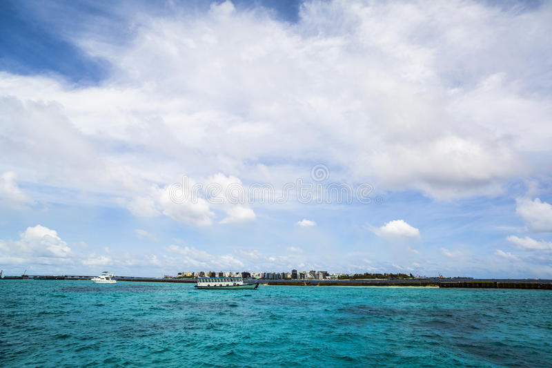 Download Coastline Of Male, Maldives Editorial Stock Photo - Image of boats, indian: 75986218