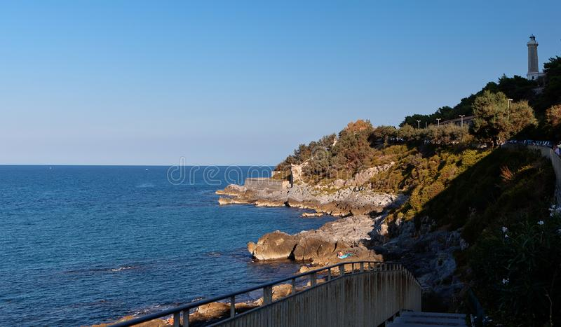 Coastline, Mediterranean Sea, Cefalu, Sicily, Italy stock photos